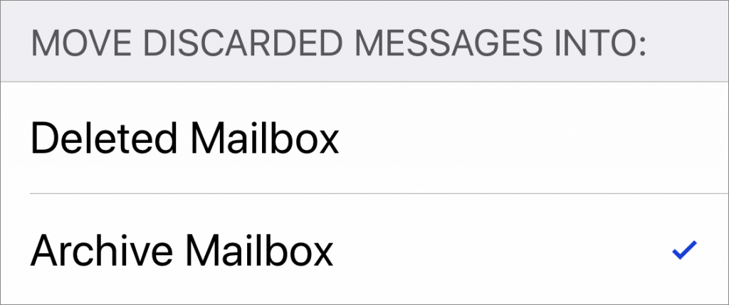 Choose between Archiving and Deleting Messages in iOS Mail